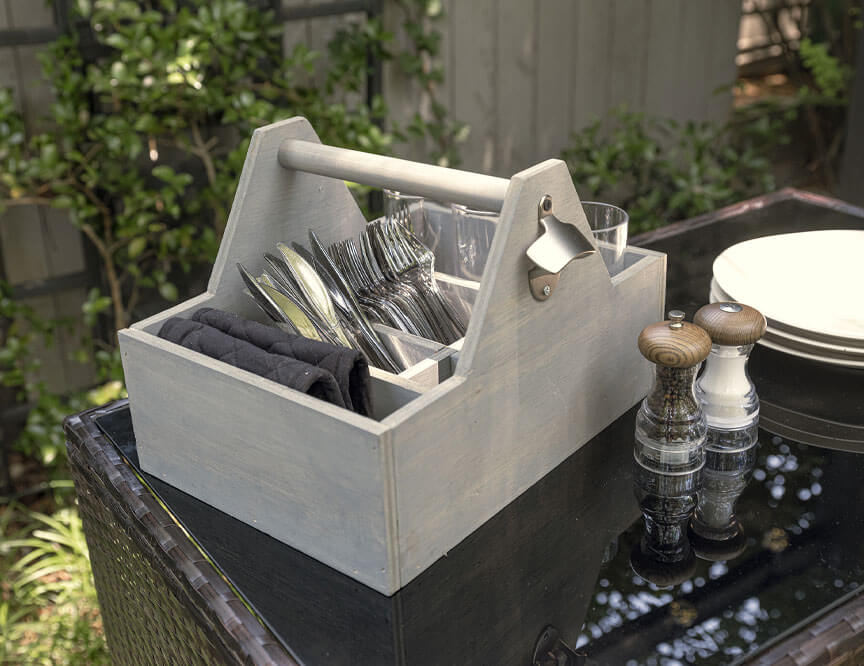 BBQ Must-Have: DIY Silverware Caddy Holderimage