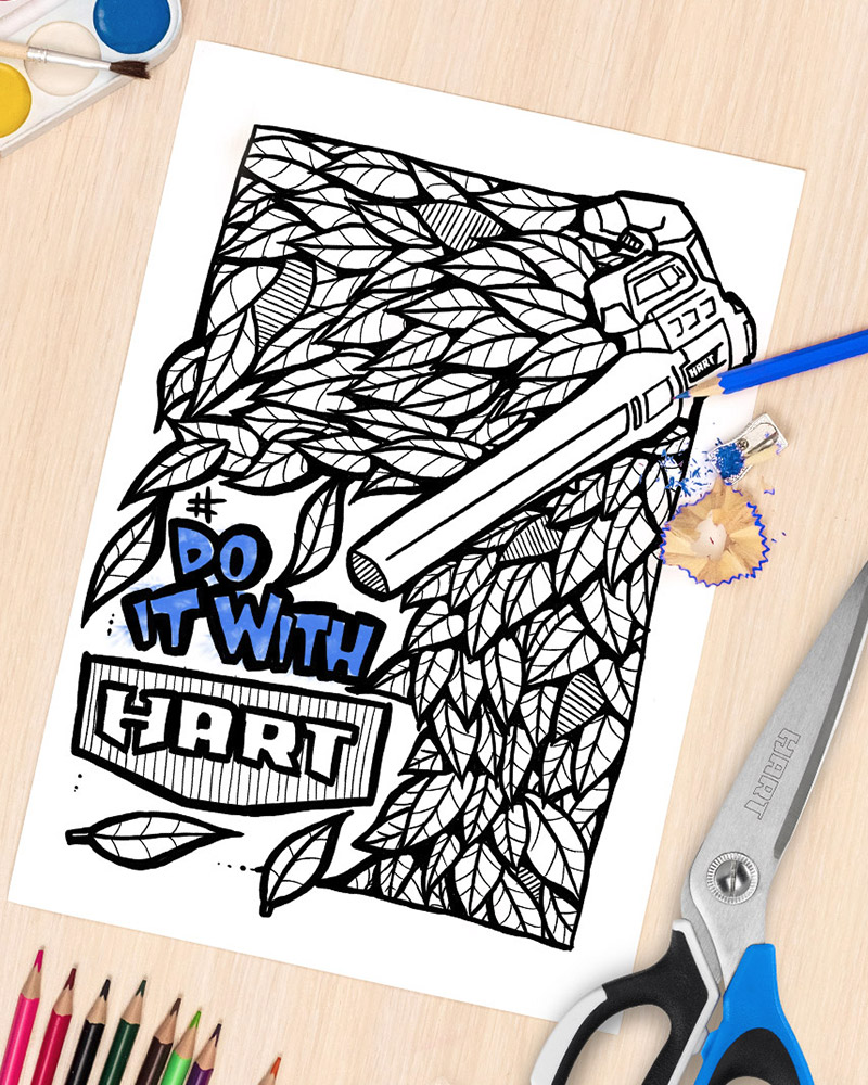 Nail Your Inner Artist: 4 HART Coloring Pages You Never Knew You Needed