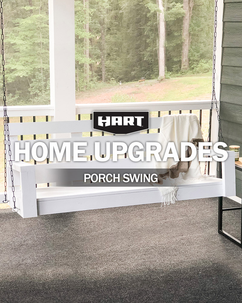 Fall-Ready DIY Porch Swing