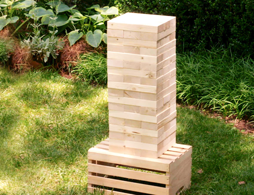 5) DIY GIANT JENGA