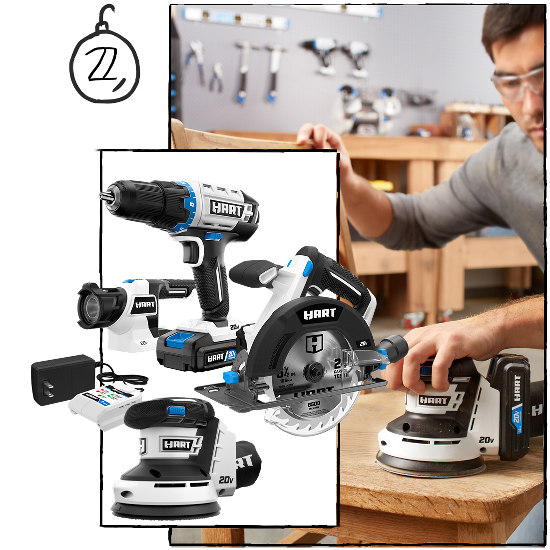 The Set that Launched a Thousand More Projects: 4-Tool Kit Including Drill, Circ Saw, Random Orbit Sander & LED Light ($179)