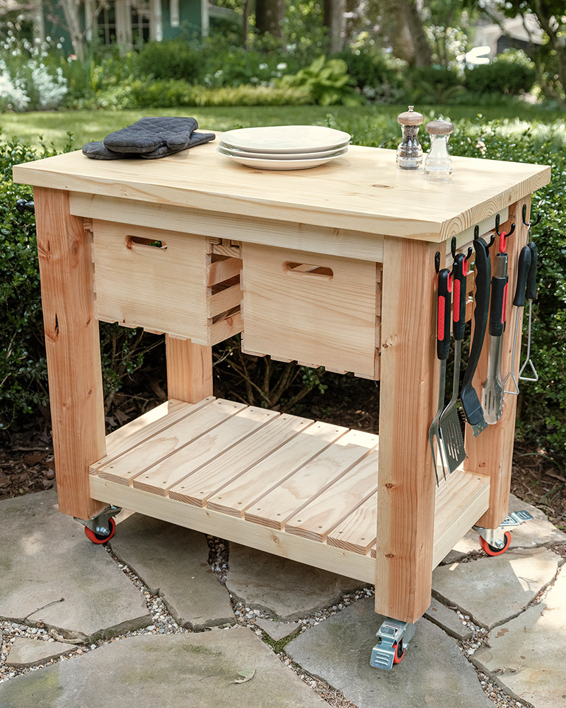 FOURTH DOWN: BUILD YOUR OWN GRILL CART