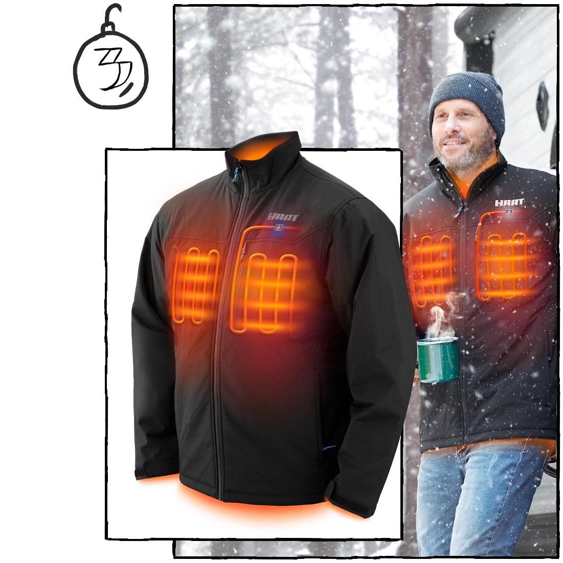 "The ""Never Checking the Temperature Outside Again"" Heated Jacket ($149)"