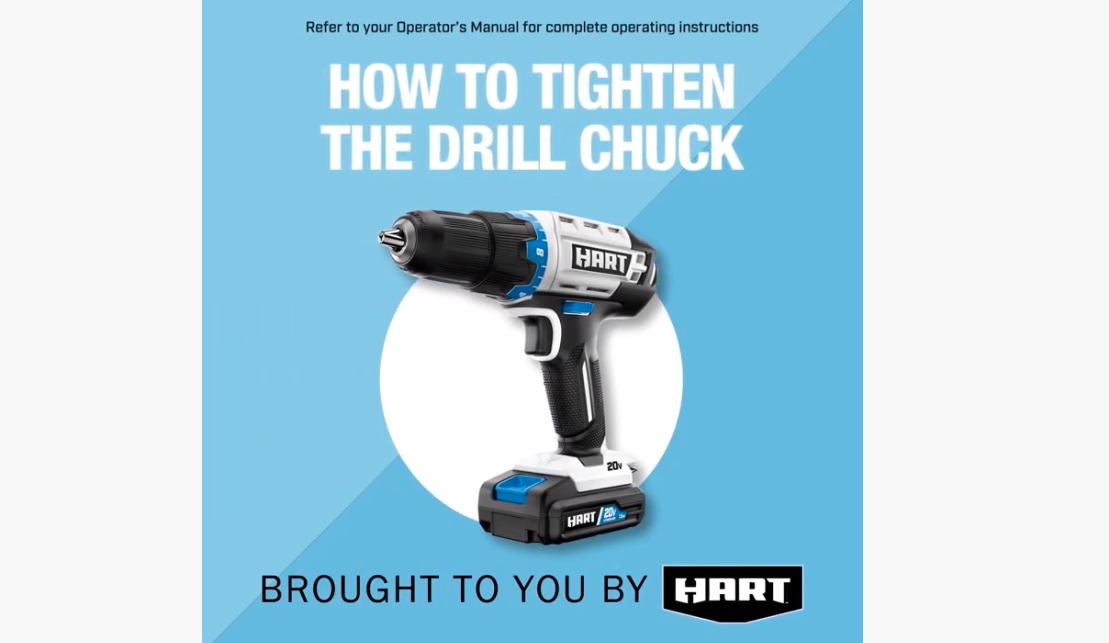 """How-To Tighten the Drill Chuck for HART 1/2"""" Drill/Driver"""