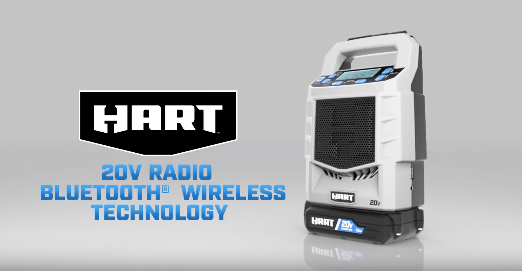 HART 20V Bluetooth Radio