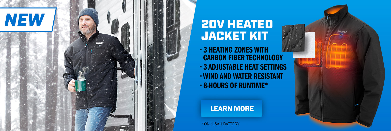 NEW! Hart Tools Heated Jackets Only at Walmart