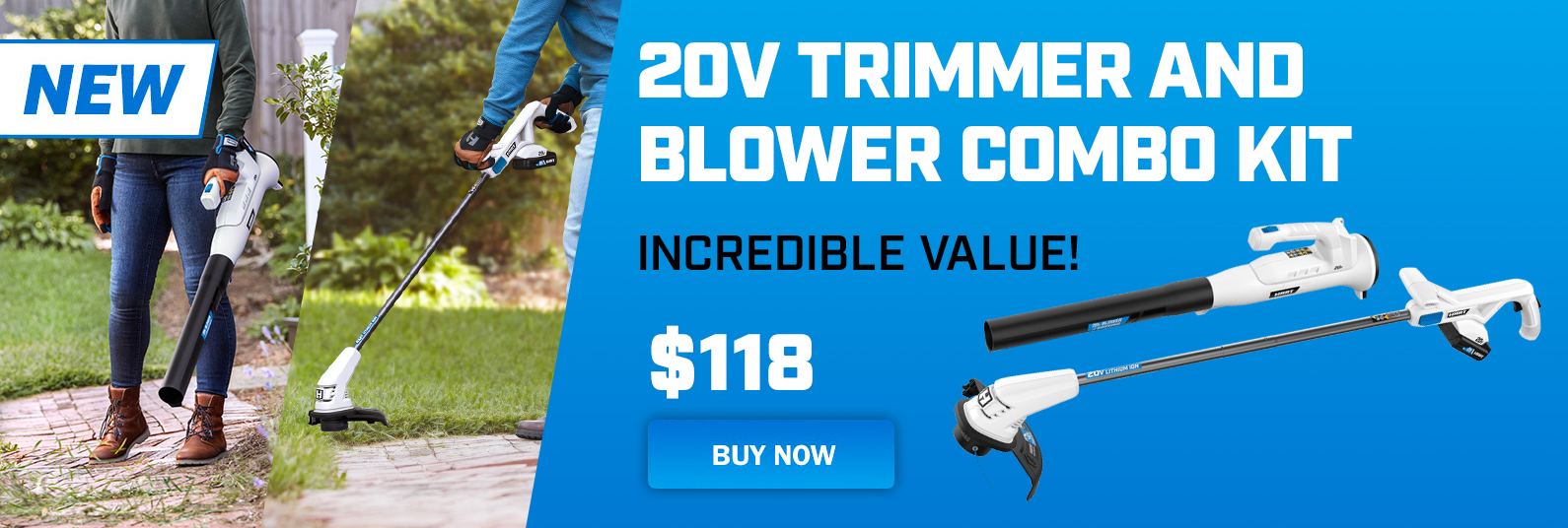 Hart Cordless Trimmer and Blower Kit; only at Walmart